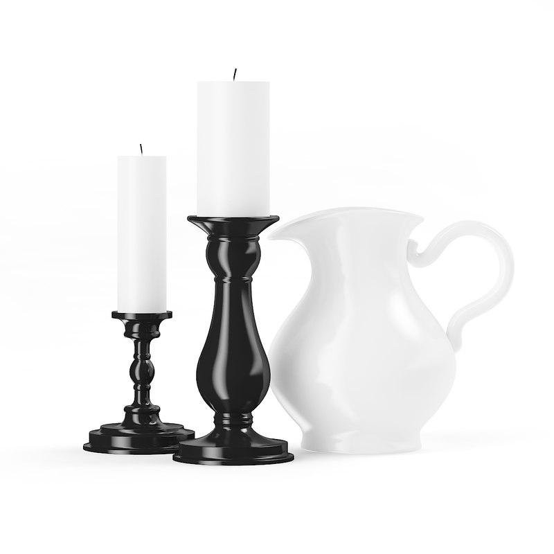 candles jug 3d c4d