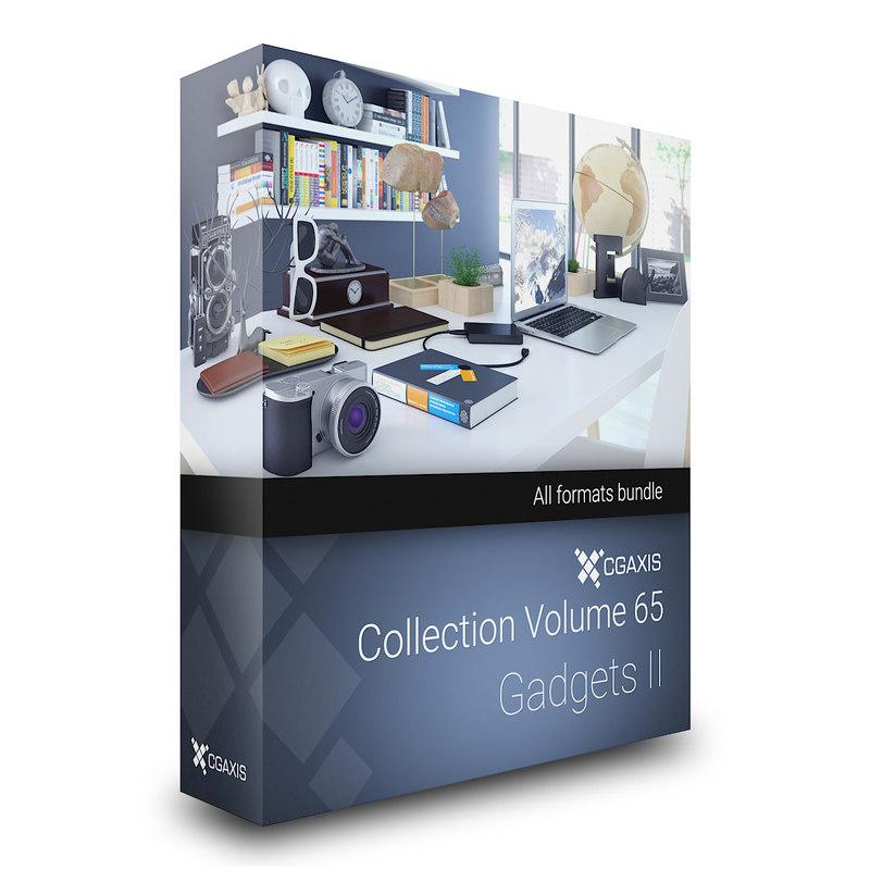 3d volume 65 - gadgets model