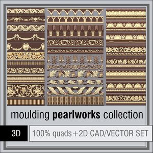 3d model 1d pearlworks moulding