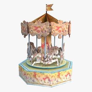 carousel toy obj