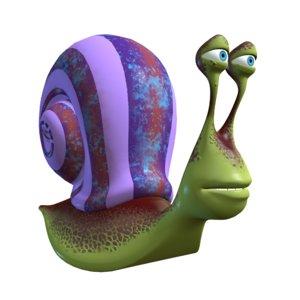 fbx snail cartoon toon