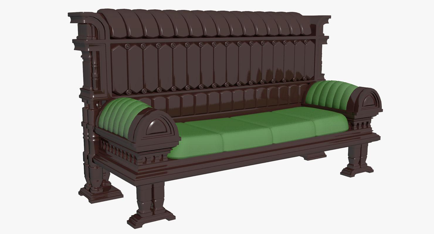 3d bench sofa