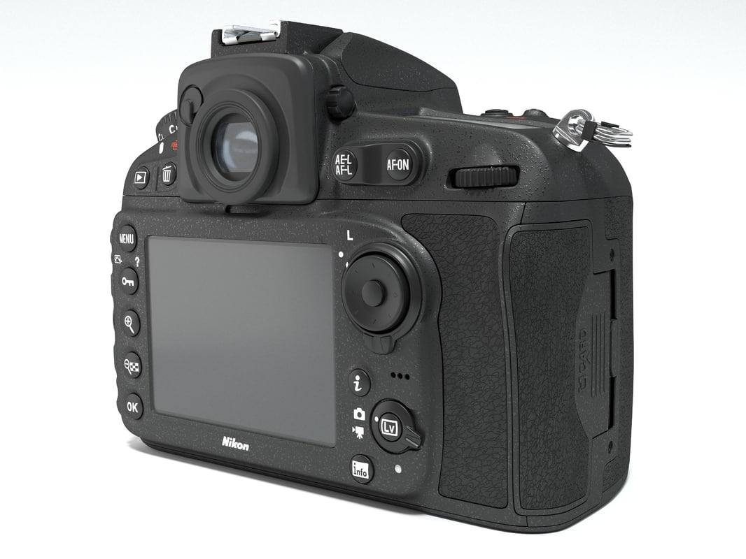3d model nikon d810