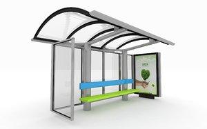 bus station shelter 3ds
