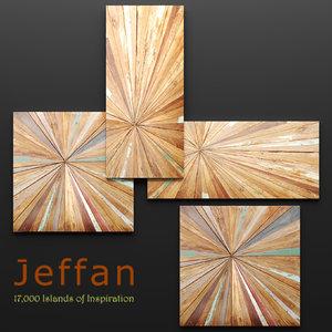3d jeffan vintage square wall model