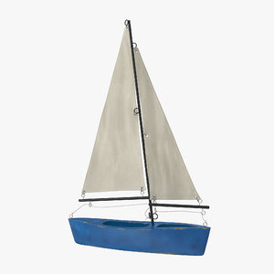 3d model toy sailboat