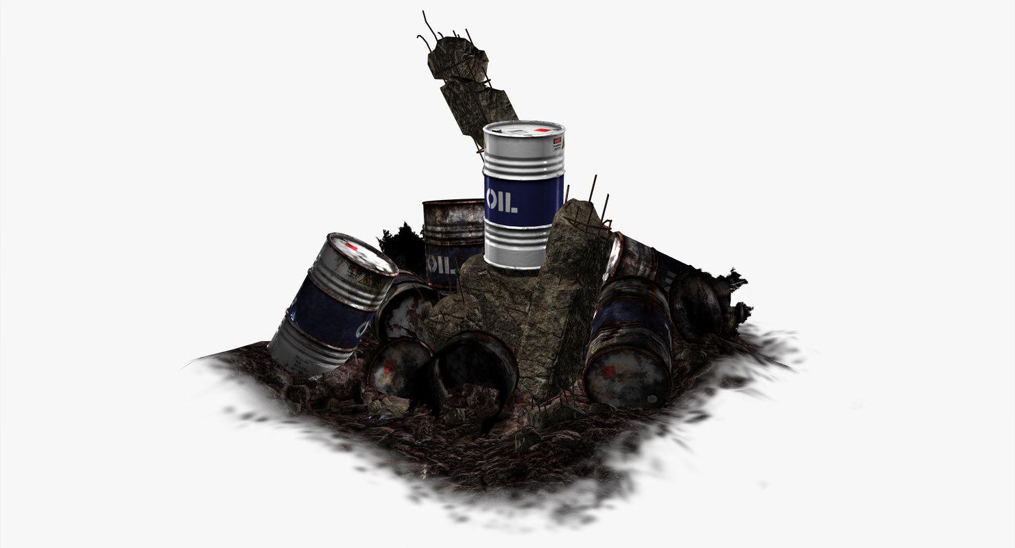 fbx oil barrel white -