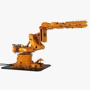robot arm rigged 3d model