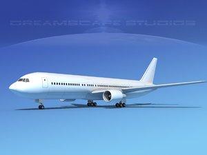aircraft boeing 3d 3ds