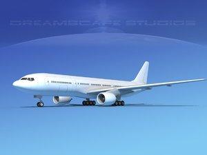 3d model boeing aircraft 777-200lr