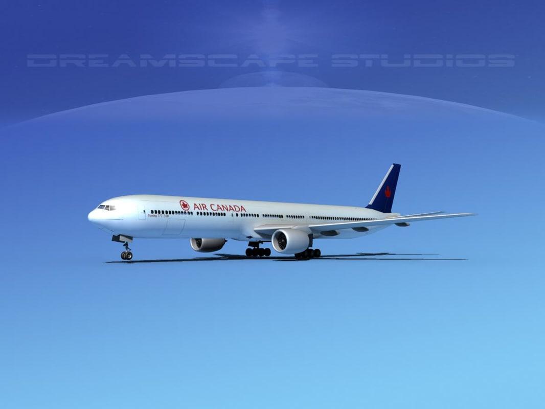 3d boeing 777-300 model