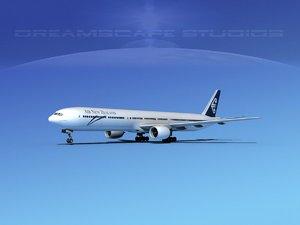 boeing 777-300 3d 3ds