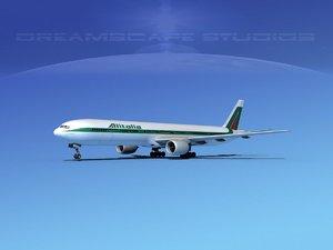 boeing 777-300 3d obj