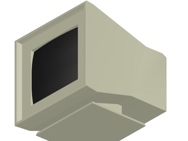 computer monitor 3d max