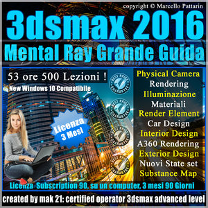 Corso 3ds max 2016 Mental Ray Grande Guida 3 mesi Subscription 1 Computer