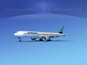 boeing 777-300 airliners 3d model
