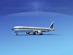 3d boeing 777-300 airliners model