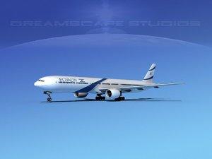 3d model of boeing 777-300