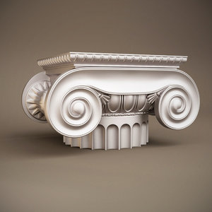 3d antique capital table ionic model