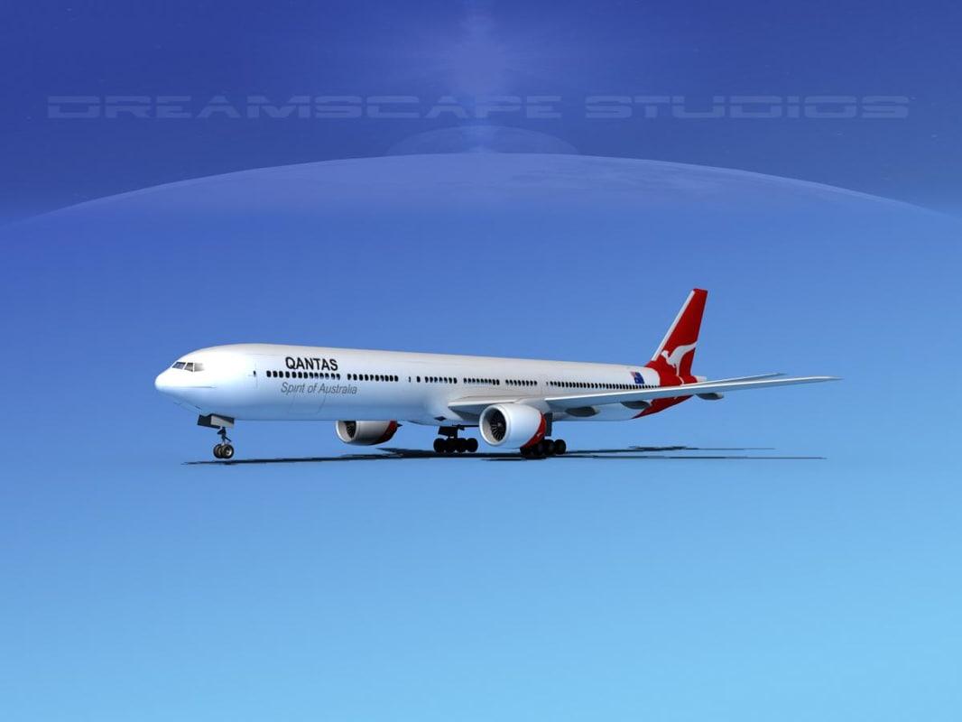 boeing 777-300 3d model