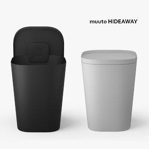 muuto hideaway basket 3d model