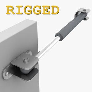3d model of hinge cabinet
