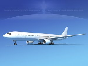 boeing aircraft 777-300 3ds