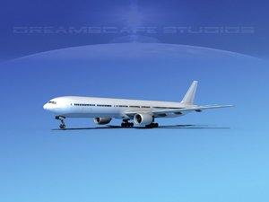 boeing 777-300 3d max