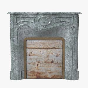 3d art deco fireplace model