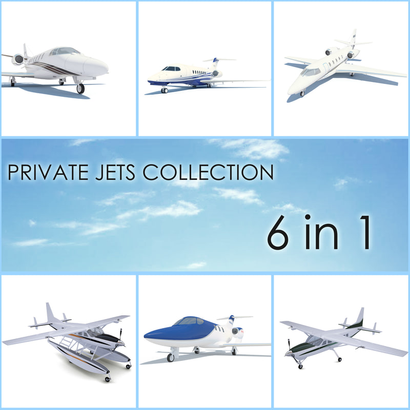 private jets 3d model