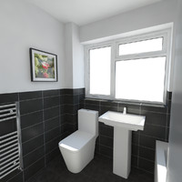 3d bathroom interior model