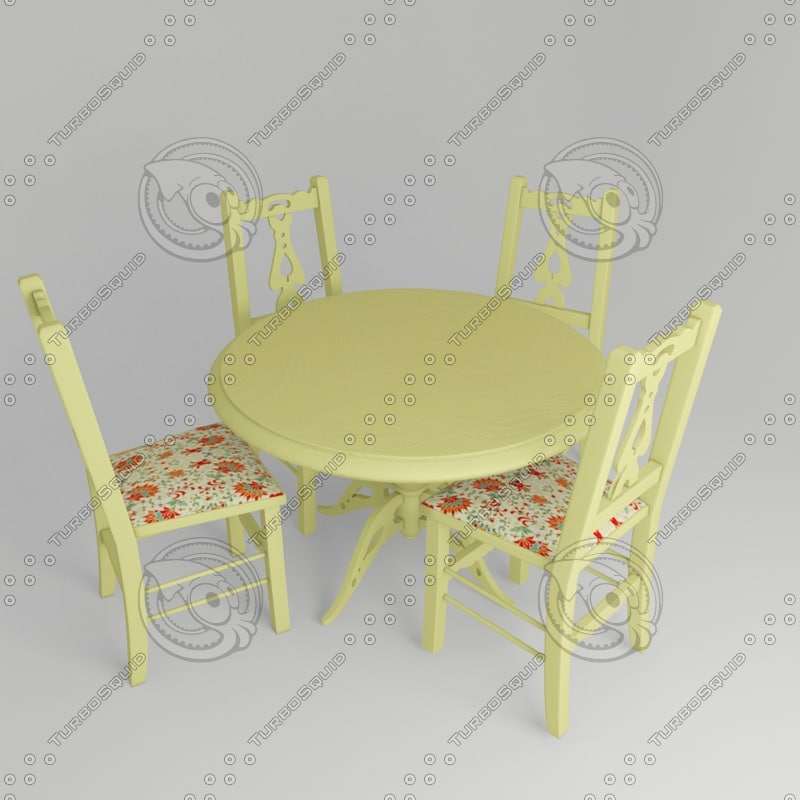 3d chair table