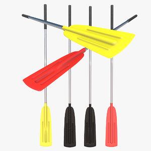 rowing 3d model