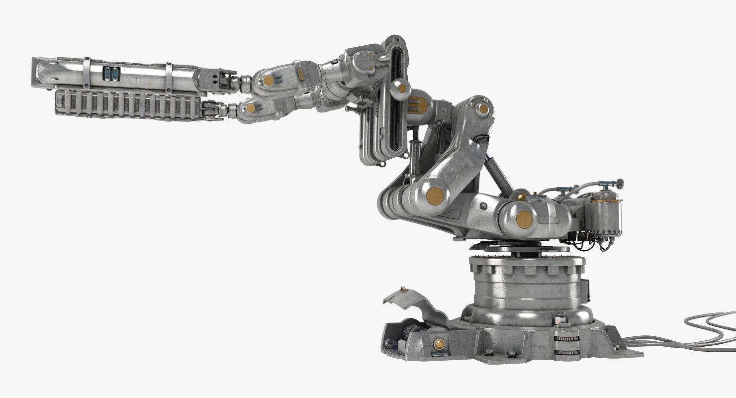 3d model of robot arm