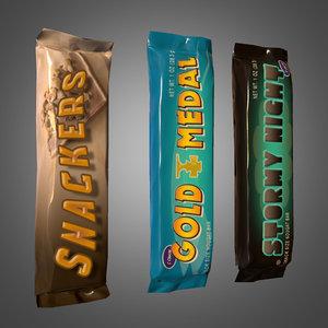 candy bars - pbr obj