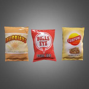3d chip bags - pbr model