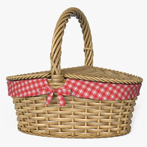 3d picnic basket model