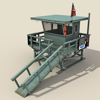 Lifeguard Station - Low Poly