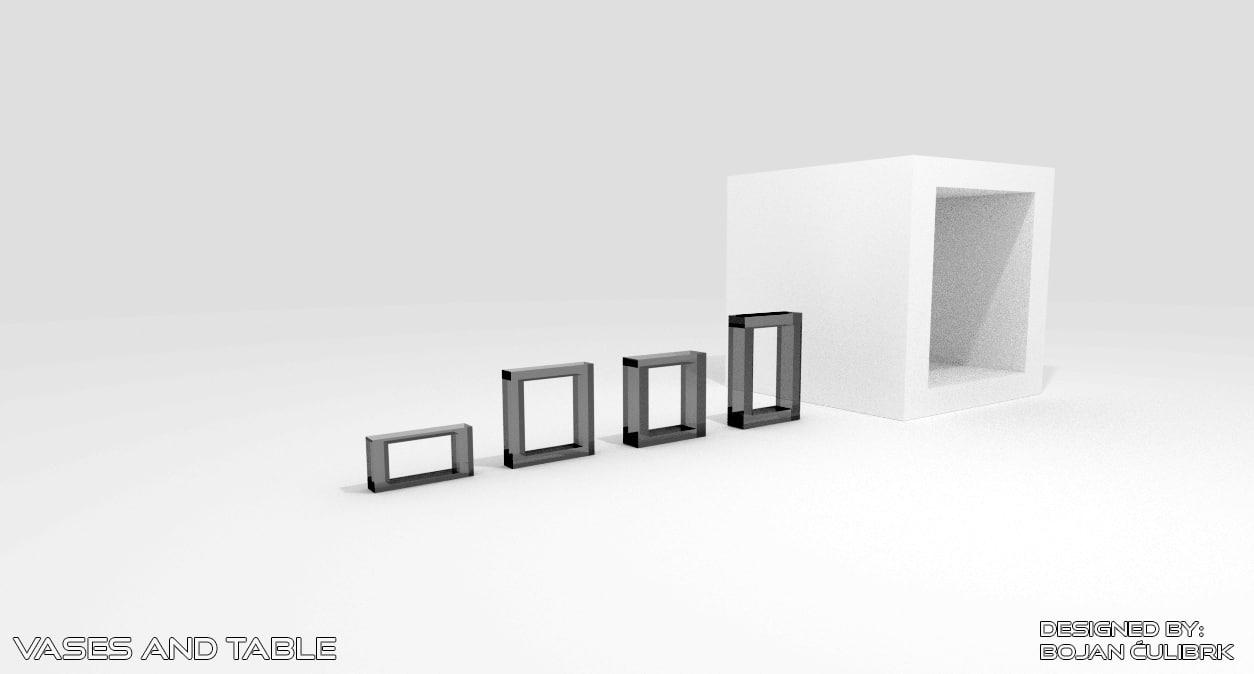 3d model table vases
