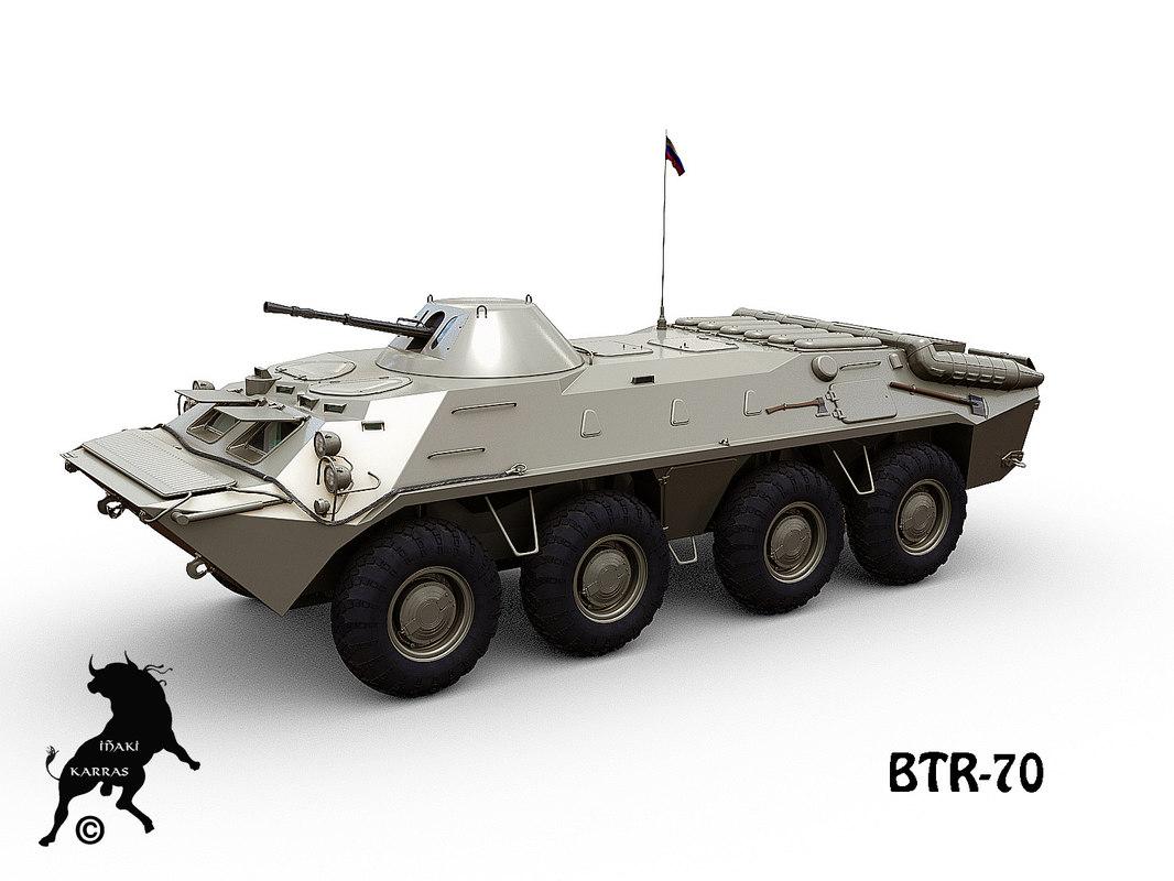btr-70 apc 3d model