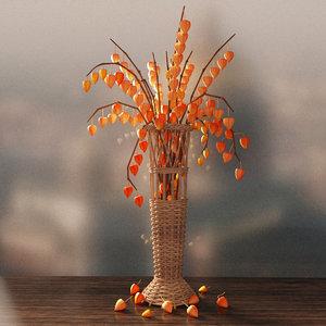 max modeled vase physalis