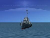 3d guns buckley class destroyer