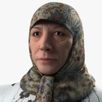 realistic woman real 3d model