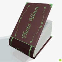 3d model leather photo album customizable