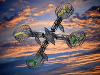 free max model quadcopters frame rigging