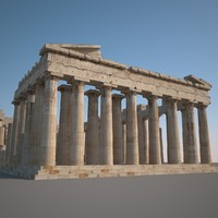 3d parthenon model