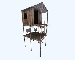 3d riverside shack
