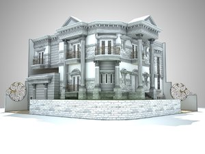 classic house design 3d model