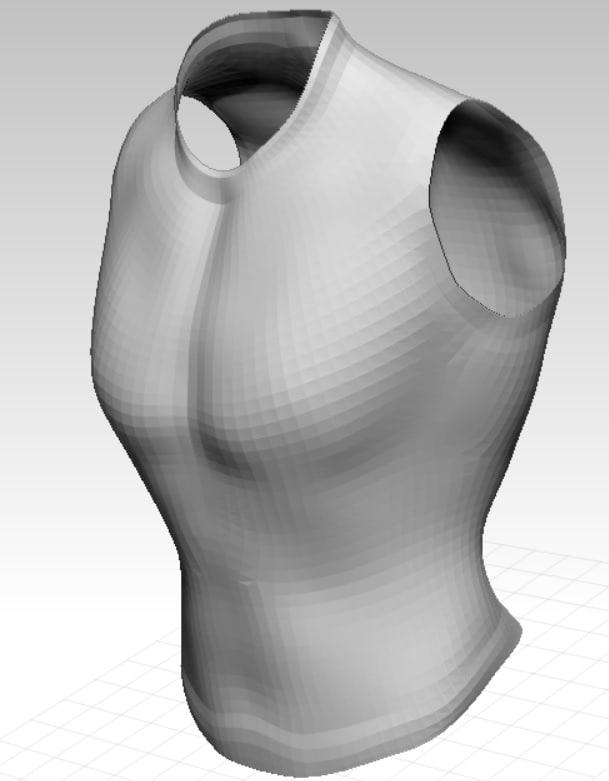 3d armor base mesh model