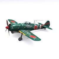 3d ki-84 hayate fighter frank model